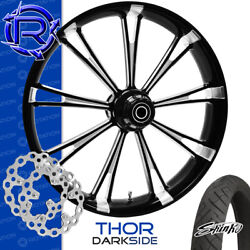Rotation Thor Darkside Custom Motorcycle Wheel Front Package Harley Touring 26