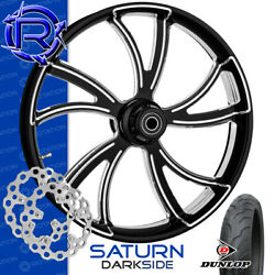 Rotation Saturn Darkside Custom Motorcycle Wheel Front Package Harley Touring 21
