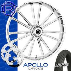 Rotation Apollo Chrome Custom Motorcycle Wheel Front Package Harley Touring 26