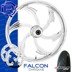 Rotation Falcon Chrome Custom Motorcycle Wheel Front Package Harley Touring 23