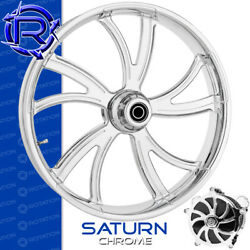 Rotation Saturn Chrome Custom Motorcycle Wheel Front Harley Touring Baggers 21