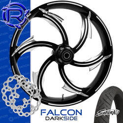 Rotation Falcon Darkside Custom Motorcycle Wheel Front Package Harley Touring 26