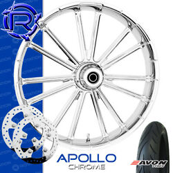 Rotation Apollo Chrome Custom Motorcycle Wheel Front Package Harley Touring 23