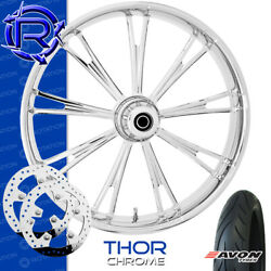Rotation Thor Chrome Custom Motorcycle Wheel Front Package Harley Touring 23