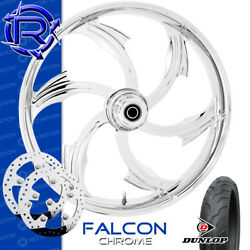 Rotation Falcon Chrome Custom Motorcycle Wheel Front Package Harley Touring 21