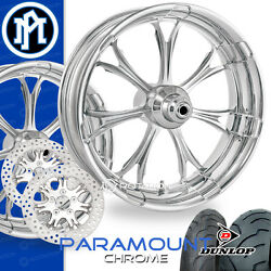 Performance Machine Paramount Chrome Motorcycle Wheel Full Package Harley 21 PM