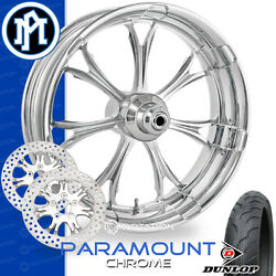 Performance Machine Paramount Motorcycle Wheel Front Package Harley Touring 21
