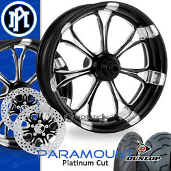 Performance Machine Paramount Platinum Motorcycle Wheel Full Package Harley PM