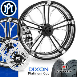 Performance Machine Dixon Platinum Cut Motorcycle Wheel Full Package Harley PM