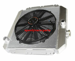 Fits 49-52 Chevy Styleline V8 Mt Aluminum Racing 3 Row Radiator16 Fans