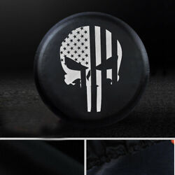 35x12.5r18 Punisher Spare Tire Cover 34-36 For Toyota Jeep Suv Truck Wheelcover