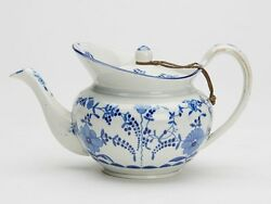 Antique Staffordshire Pearlware Teapot Early 19th C.
