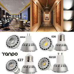 Dimmable COB LED Spot Light Bulbs 15W GU10 MR16 E26 E27 Cree Lamp Ultra Bright