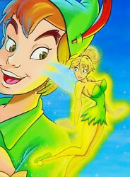 Tinker Bell With Peter Pan Disney Painting - Papa Art Gallery Accept Electroneum