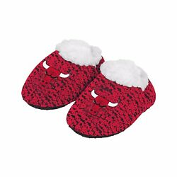 Chicago Bulls POLY KNIT Infant Newborn Baby Booties Slippers NBA New Shower Gift $9.85