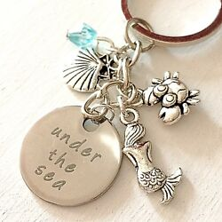 The Little Mermaid Ariel-Inspired Silver Keychain Under the Sea Gift of Love $10.96