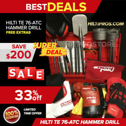 Hilti Te 76 Hammer Drill,preowned, Free Gloves, Bag, Bits, More, Quick Ship