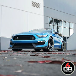 20 Project 6gr Five 10/11 Satin Black Wheels For Mustang Eco Boost Gt Pp