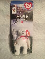 Ty Beanie Baby Maple The Bear 1999/1993 With Errors Oak Brook And Tush Tag Error