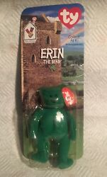 Ty Beanie Baby Erin The Bear. 1999/1993 With Errors Oak Brook And Tush Tag