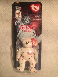 Ty Beanie Baby Glory The Bear 1999/1993 With Errors Oak Brook And Tush Tag Error