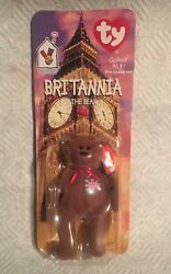 Ty Beanie Baby Brittania The Bear 1999/1993 With Erors Oak Brook And Tush Tag