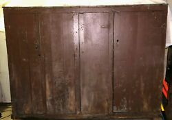 Vintage Antique 8and039+ Wooden Closet Cupboard Storage Lockers Square Drawers