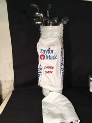 CHUCK DALY TAYLOR MADE PERSONAL GOLF BAG CLUB SET TOUR USED PISTONS BAD BOYS HOF
