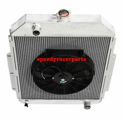 For 48-52 Ford F1-f8 Truck W/chevy L6/v8 3row Aluminum Racing Radiator+14 Fan