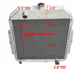 For 48-52 Ford F1-f8 Truck W/chevy L6/v8 3row Aluminum Racing Radiator