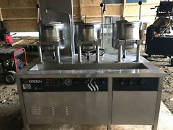 Groen Steam Jacketed Kettle(s) with cabinet base CTDC-3-20-SG