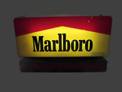 Scarce 1995 Marlboro Lighted Cigarette Store Display Sign W/ Led Moving Message