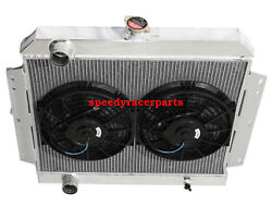 Fit 66-69 International Scout V8 Mt 3 Row Performance Radiator+10 Fans