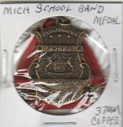 Lamc Token - Michigan School Band And Orchestra Medal - 37 Mm Copper