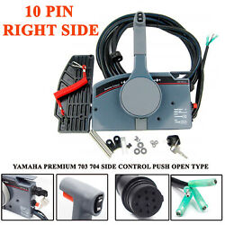 For Yamaha Outboard Remote Control Box 10Pin Cable Throttle 704 703 Right Hand
