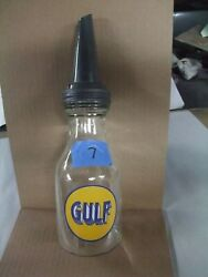 Collectibles Duraglas Oil Bottle With Spout Gulf Quart Nice 5
