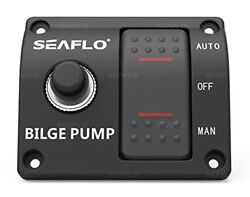 Seaflo 3-way Bilge Pump Switch Panel Auto/off/manual With 15a Circuit Breaker