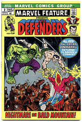 Marvel Feature 2 - Featuring The Defenders - 1st Print - 7.5 Vf-