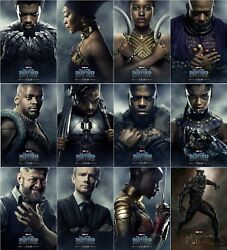 Black Panther Movie Poster 2018 Cast Character Art Print 13x20