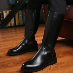 New Menand039s Boots Military German Army Officer Thigh Shoes Fashion Combat