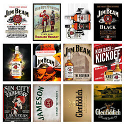 Garage/man Cave/ Kitchen/retro Metal Signs/plaques Cool Novelty Gift Whiskey 2
