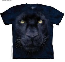 Black Panther T-Shirt  Cool Tie DyeBig CatBig Black Cat Teeart by Penfound