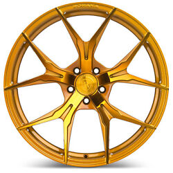 20 Rohana Rfx5 Gloss Gold Concave Wheels For Land Rover