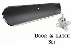 1965 Mustang Glove Box Door And Latch Standard Black Curved By Acp Ships Free