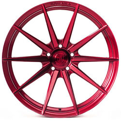 20 Rohana Rf1 Gloss Red Concave Wheels For Land Rover