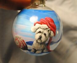 Original Painting~West Highland White Terrier~Dog~Christmas Ornament~Whimsical