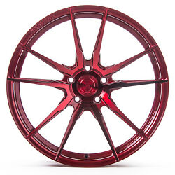 20 Rohana Rf2 Gloss Red Concave Wheels For Land Rover