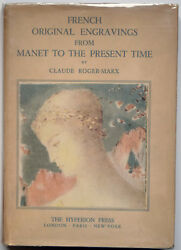 French Original Engravings From Manet To The Present Time Roger-marx, Hyperion