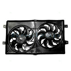 01-06 Sebring Stratus Radiator And A/c Condenser Dual Cooling Fan Motor Assembly