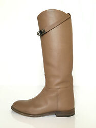 Hermes Swift Kelly Jumping Boots Etoupe Size 37.5 7.5